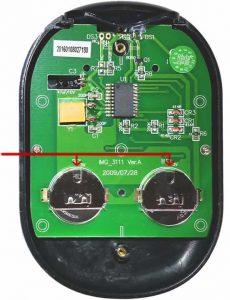 Identify Coin Cell Battery in Delphi Remote